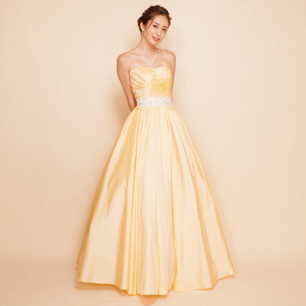 眩しい太陽のように輝けるイエローカラードレス