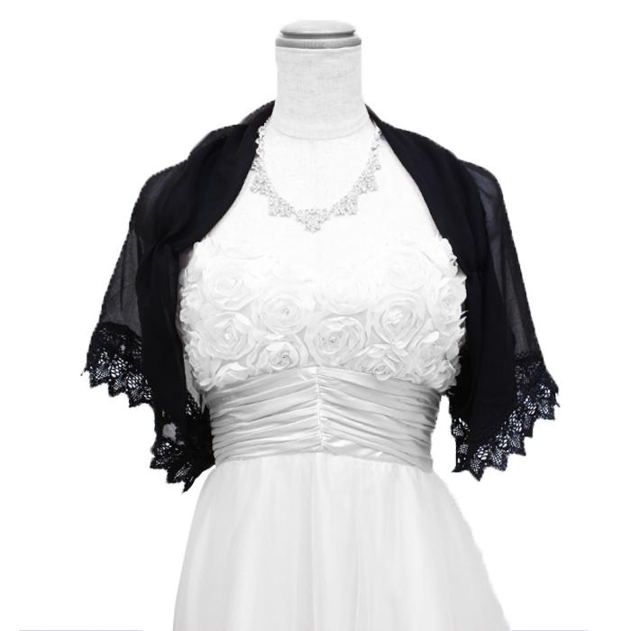 シースルー生地でお気に入りのドレスもしっかり見せるちょい足しボレロ