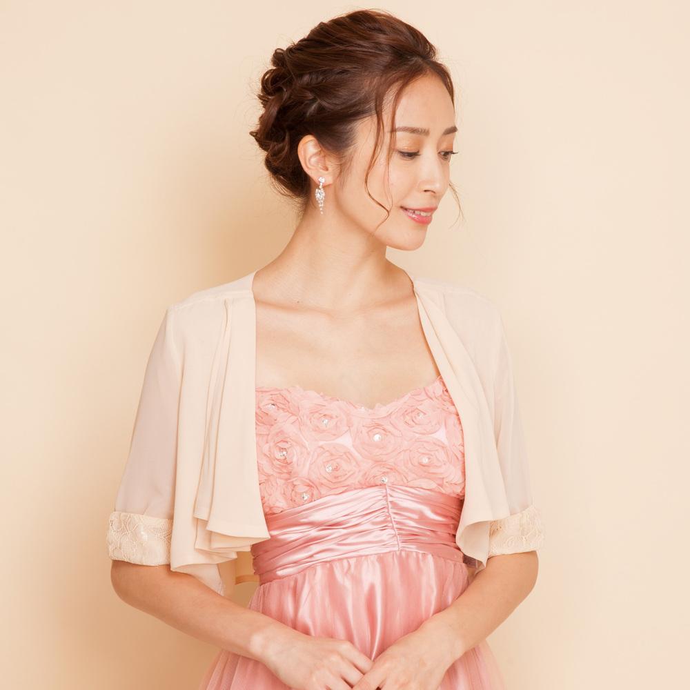 ステージドレスと組み合わせたい!7分丈の上品レースボレロ