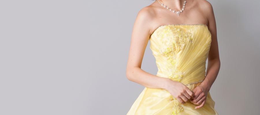 イエローカラー・黄色のドレス