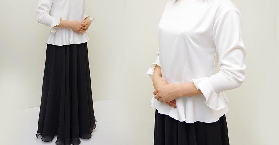 ステージ衣装の定番の組み合わせ!演奏会で黒のロングスカートとブラウスを着こなそう