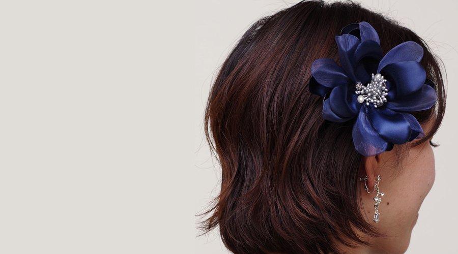 髪飾りにも使える!コサージュの使いまわしのアドバイス